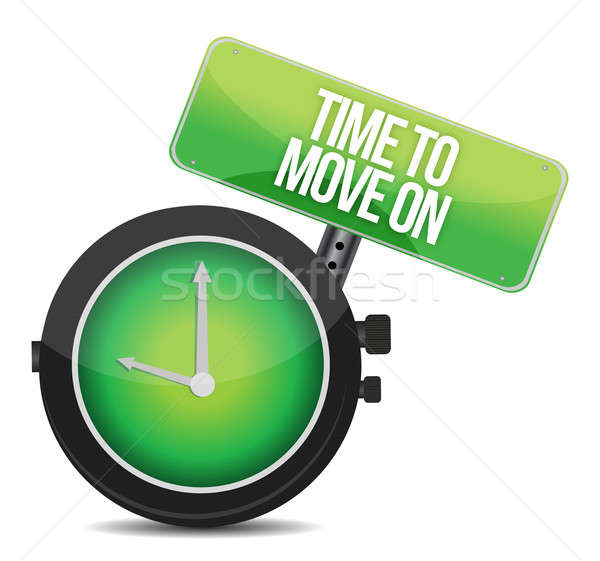 TIme to Move On concept illustration design over white Stock photo © alexmillos