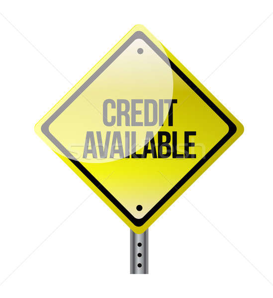 credit available road sign illustration design over white Stock photo © alexmillos