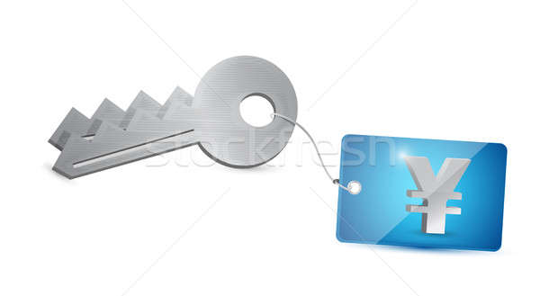 key yen security illustration design over a white background Stock photo © alexmillos