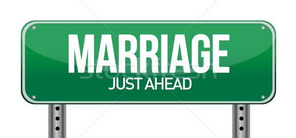 Marriage just ahead illustration design over a white background Stock photo © alexmillos
