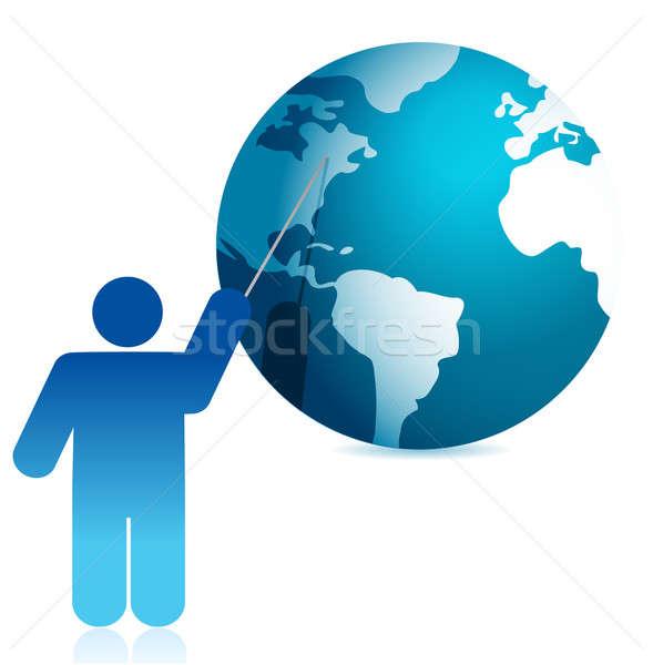 Stok fotoğraf: Dünya · tanıtım · örnek · ikon · dizayn · beyaz