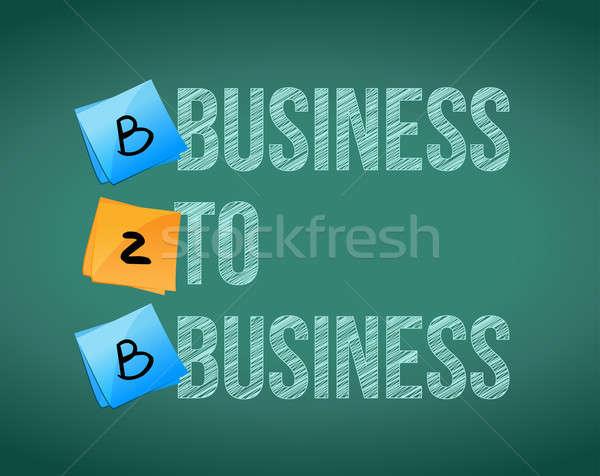 бизнеса b2b совета бизнесмен окна сеть Сток-фото © alexmillos