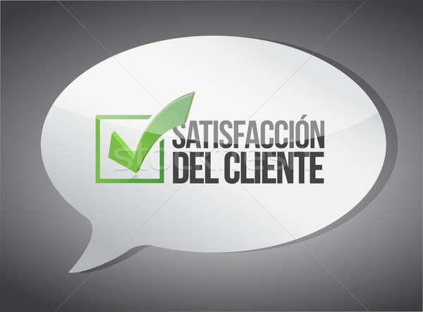 Spanyol ügyfélszolgálat üzenet kommunikáció üzlet kék Stock fotó © alexmillos