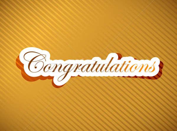 Gratulacje tle biały litery tekst słowo Zdjęcia stock © alexmillos