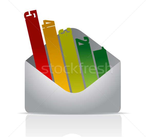 Envelop aantal grafiek achtergrond teken web Stockfoto © alexmillos
