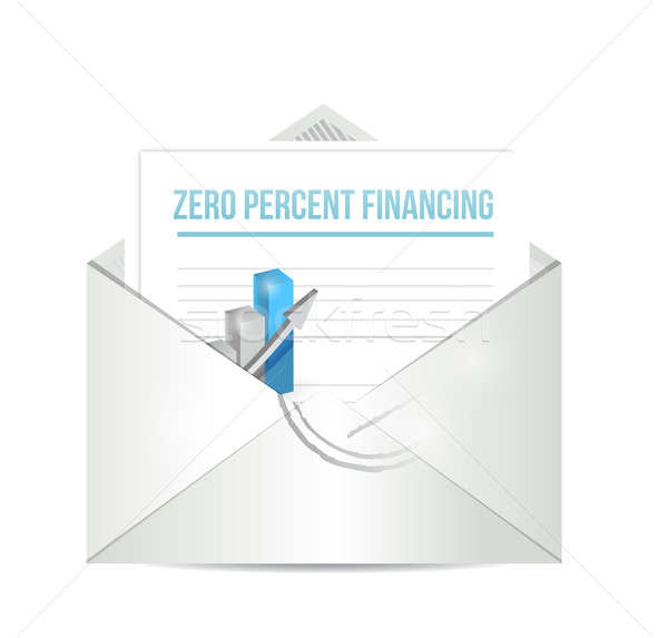 Zero percent financing paperwork illustration  Stock photo © alexmillos