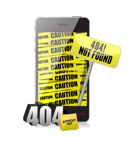 404 error display on a phone Stock photo © alexmillos