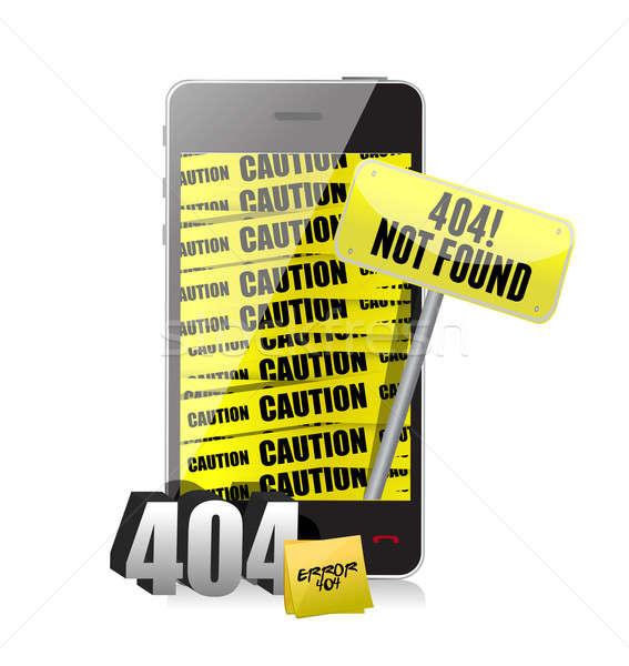 404 errore di display telefono computer abstract Foto d'archivio © alexmillos