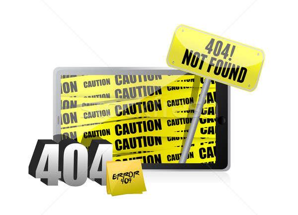 404 Fehler Display Tablet Computer abstrakten Stock foto © alexmillos