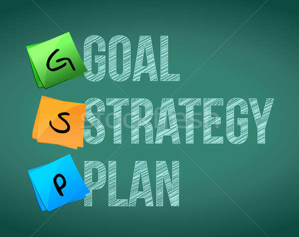 Goal policy strategy plan  Stock photo © alexmillos