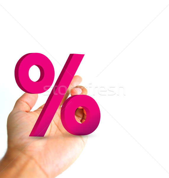 hand and percentage symbol. Stock photo © alexmillos