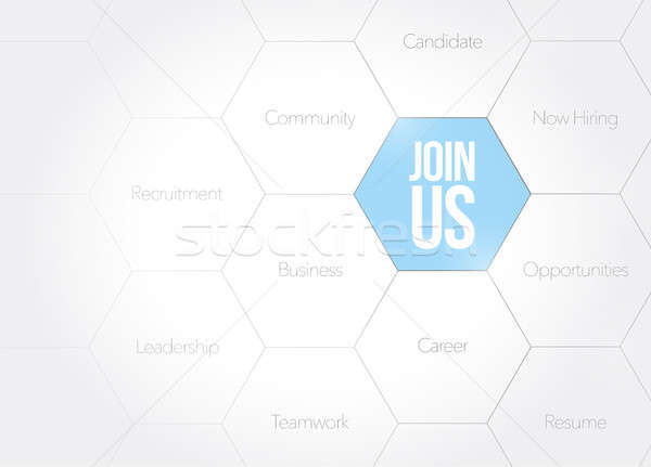 Join Us business diagram illustration design Stock photo © alexmillos