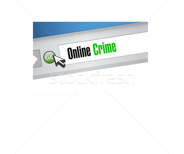 online crime browser sign concept Stock photo © alexmillos