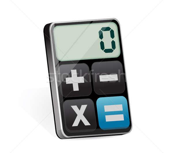 clean modern calculator Stock photo © alexmillos