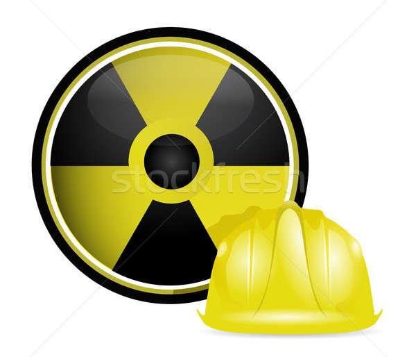 Radioativo capacete proteção assinar ilustração projeto Foto stock © alexmillos