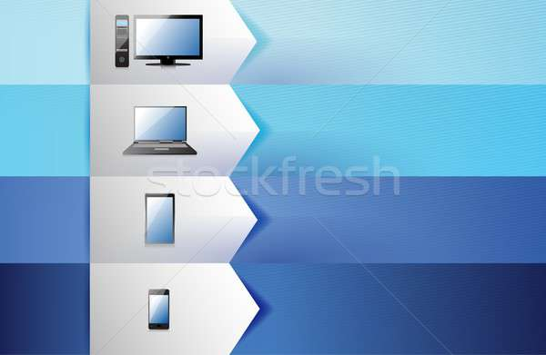 electronics customizable blue texture Banners Stock photo © alexmillos