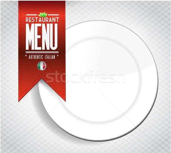 Ristorante italiano menu texture banner illustrazione bianco Foto d'archivio © alexmillos