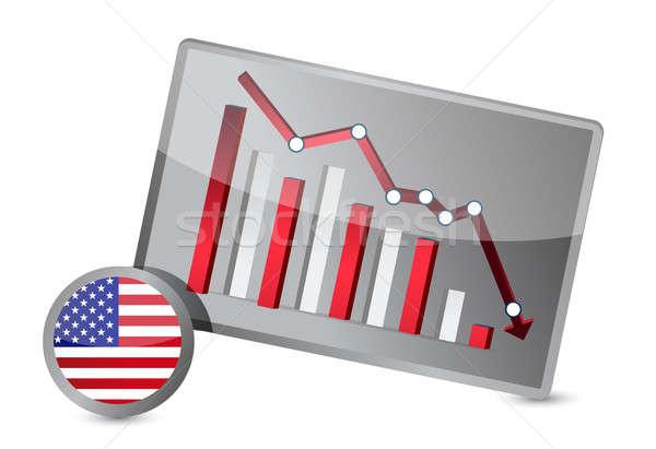 US suffering crisis graph design Stock photo © alexmillos