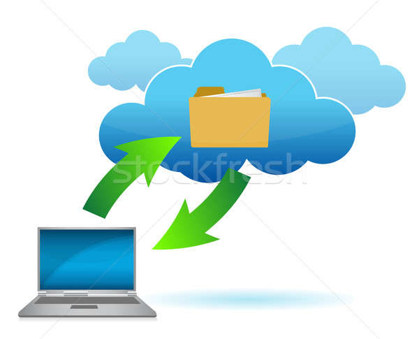 Cloud computing concept illustration design Stock photo © alexmillos