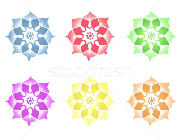 Different Mandala Flowers Stock photo © alexmillos