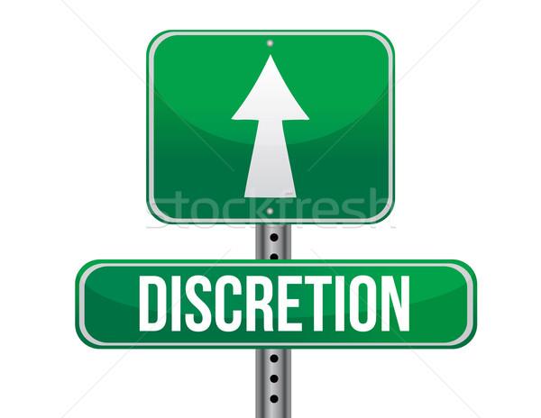 discretion road sign illustration design over a white background Stock photo © alexmillos
