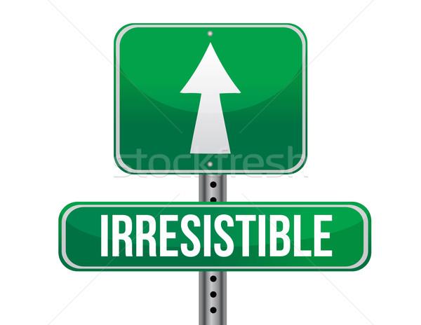 Irresistible road sign illustration design Stock photo © alexmillos