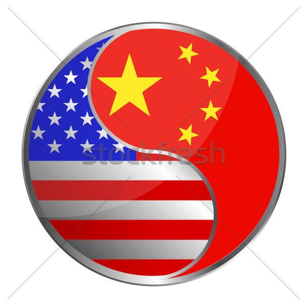 Foto stock: EUA · China · projeto · vidro · quadro