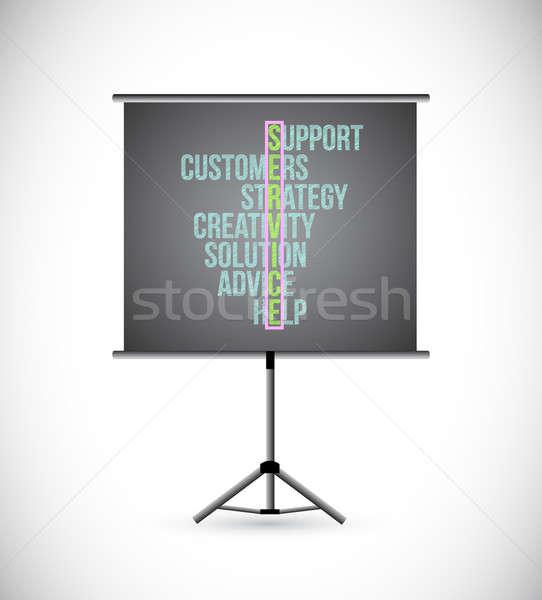Customer Service Concept illustration design on a presentation b Stock photo © alexmillos