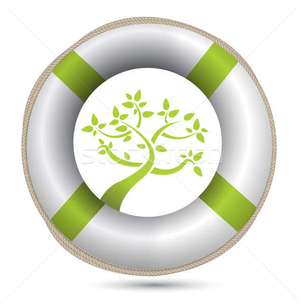 sos lifesaver eco environment illustration design over white Stock photo © alexmillos
