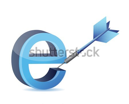 tools with symbol for internet. illustration design Stock photo © alexmillos