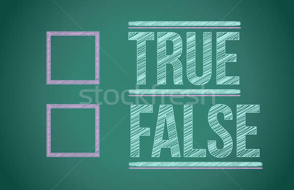 true or false with checkboxes illustration design over white Stock photo © alexmillos