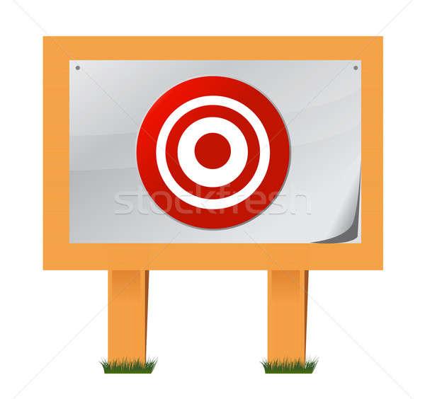 Target houten illustratie ontwerp witte sport Stockfoto © alexmillos