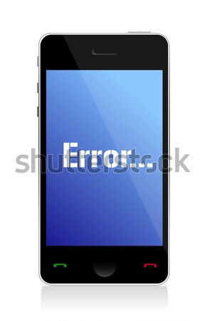 smartphone with an under construction signage illustration desig Stock photo © alexmillos
