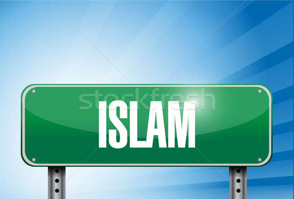 Islam religious road sign banner illustration  Stock photo © alexmillos
