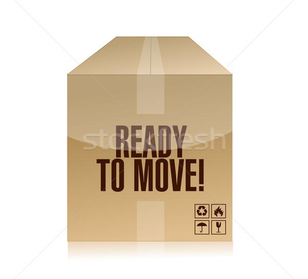 Ready to move box illustration design Stock photo © alexmillos