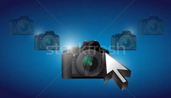camera cursor selection concept illustration design graphic back Stock photo © alexmillos