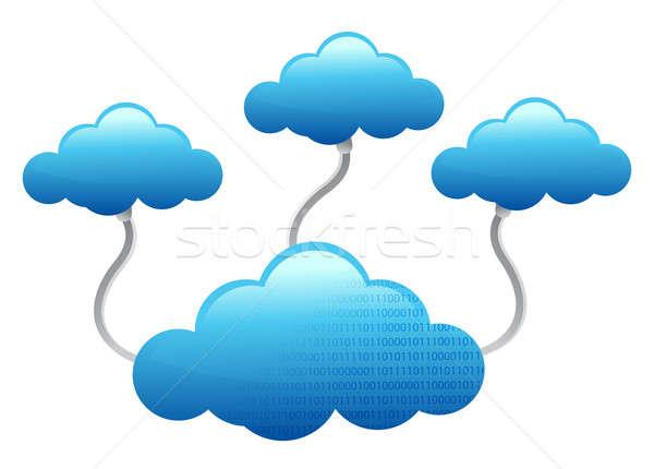 Cloud Computing electronic wifi Concept illustration design over Stock photo © alexmillos