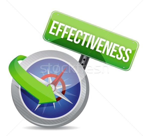 effectiveness Glossy Compass illustration design over white Stock photo © alexmillos