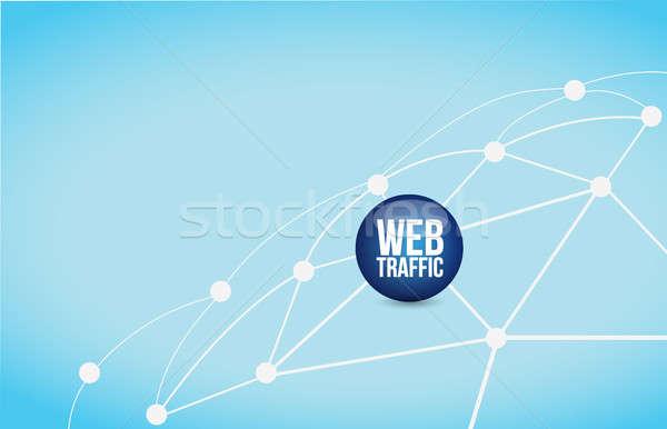 веб движения ссылку сеть иллюстрация дизайна Сток-фото © alexmillos