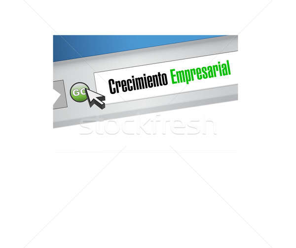 Stock photo: Business Growth website sign in Spanish.