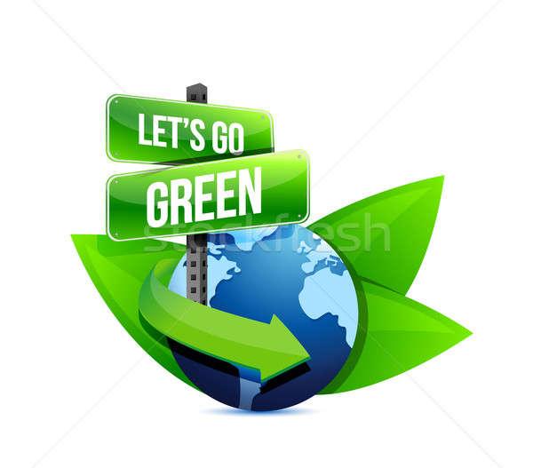Stock fotó: Zöld · Föld · földgömb · segítség · feliratok · levelek