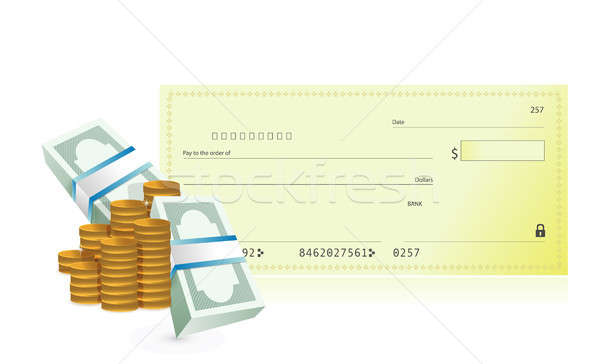 checkbook and business profits illustration Stock photo © alexmillos