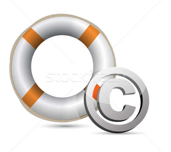 Lifebuoy and C symbol.Isolated on white. Stock photo © alexmillos