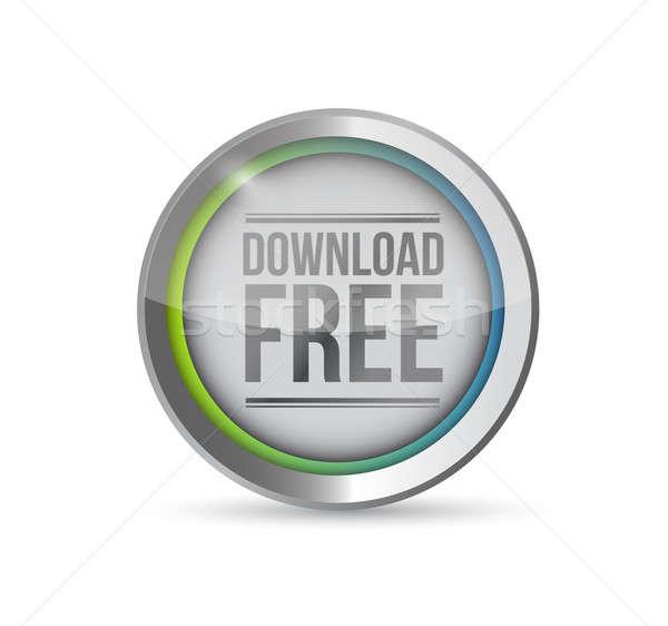 download free button illustration Stock photo © alexmillos