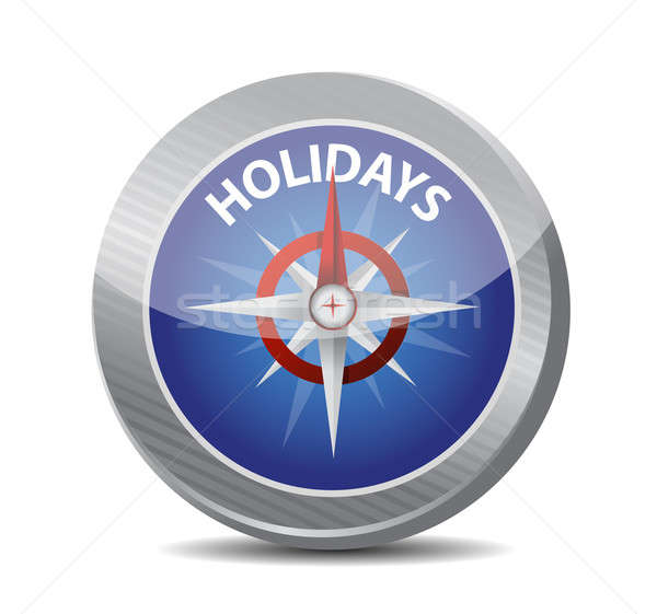guide to great holidays. compass illustration Stock photo © alexmillos
