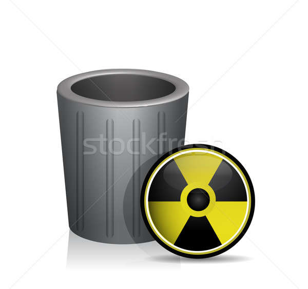 Radioactifs trash illustration design blanche militaire Photo stock © alexmillos