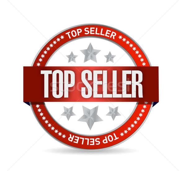 Top продавец печать иллюстрация дизайна белый Сток-фото © alexmillos