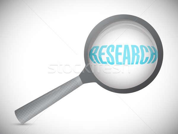 Investigación ampliar texto ilustración diseno blanco Foto stock © alexmillos