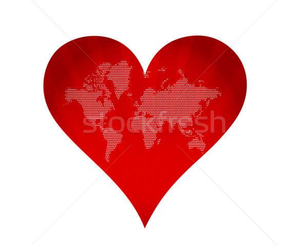 Föld űrlap hall szeretet festmény Afrika Stock fotó © alexmillos