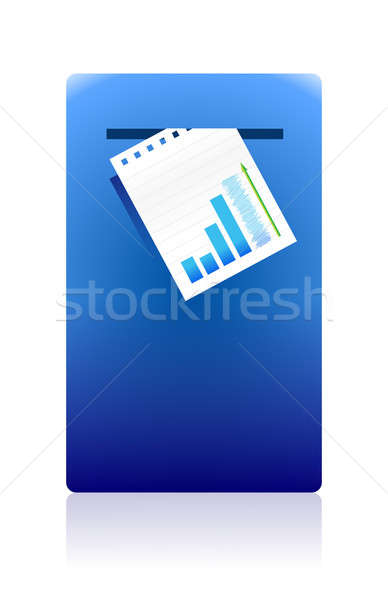 mailing business documents concept illustration design Stock photo © alexmillos